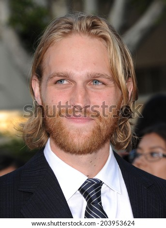 "LOS ANGELES - JUN 09:  Wyatt Russell arrives to the ""22 Jump Street"" World Premiere  on June 09, 2014 in North Hollywood, CA"