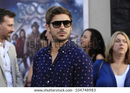 LOS ANGELES - JUN 8: Zac Efron at the 'Rock of Ages' Los Angeles premiere held at Grauman's Chinese Theater on June 8, 2012 in Los Angeles, California