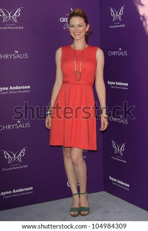 LOS ANGELES - JUNE 9: Sarah Drew at the 11th Annual Chrysalis Butterfly Ball held at a private residence on June 9, 2012 in Los Angeles, California