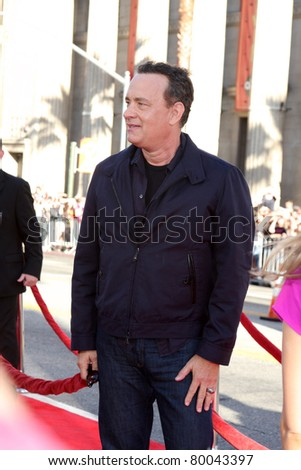 """LOS ANGELES - JUNE 27:  Tom Hanks arriving at the """"Larry Crowne"""" World Premiere at Chinese Theater on June 27, 2011 in Los Angeles, CA"""
