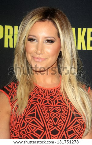"LOS ANGELES - MAR 14:  Ashley Tisdale arrives at the 'Spring Breakers"" Premiere at the Arclight, Hollywood on March 14, 2013 in Los Angeles, CA"