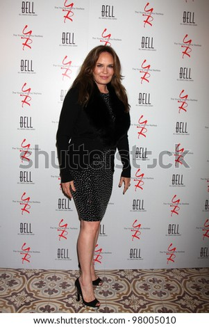 LOS ANGELES - MAR 16:  Catherine Bach arrives at the Young & Restless 39th Anniversary Party hosted by the Bell Family at the Palihouse on March 16, 2012 in West Hollywood, CA