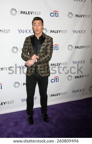 LOS ANGELES - MAR 14:  Colton Haynes at the PaleyFEST LA 2015 - \