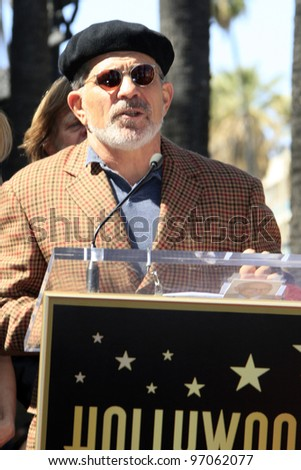 LOS ANGELES - MAR 7:  David Mamet at the Ceremony honoring William H. Macy and Felicity Huffman with their Hollywood Walk Of Fame Stars at 7060 Hollywood Blvd. on March 7, 2012 in Los Angeles, CA