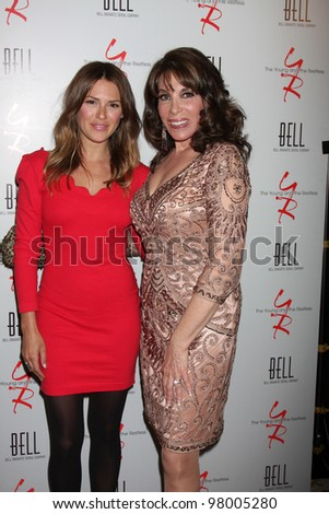 LOS ANGELES - MAR 16:  Elizabeth Hendrickson, Kate Linder arrives at the Young & Restless 39th Anniversary Party hosted by the Bell Family at the Palihouse on March 16, 2012 in West Hollywood, CA