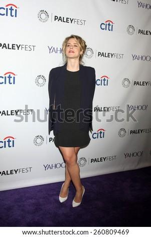 LOS ANGELES - MAR 14:  Emily Bett Rickards at the PaleyFEST LA 2015 - \