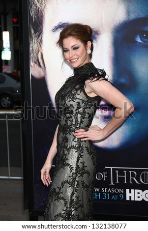 "LOS ANGELES - MAR 18:  Esme Bianco arrives at ""Game of Thrones"" Season 3 Premiere at the Chinese Theater on March 18, 2013 in Los Angeles, CA"