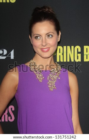 "LOS ANGELES - MAR 14:  Eva Amurri Martino arrives at the 'Spring Breakers"" Premiere at the Arclight, Hollywood on March 14, 2013 in Los Angeles, CA"