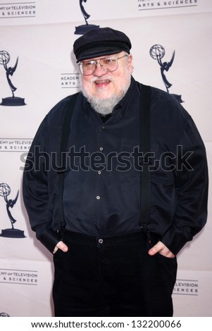"LOS ANGELES - MAR 19:  George R.R. Martin arrives at  ""An Evening with The Game of Thrones"" hosted by ATAS at the Chinese Theater on March 19, 2013 in Los Angeles, CA"