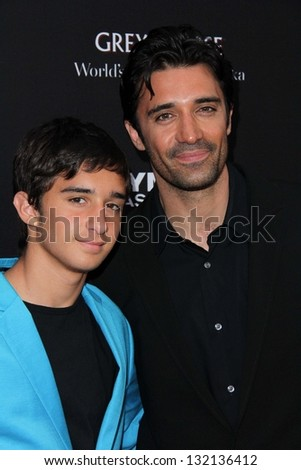 "LOS ANGELES - MAR 18:  Gilles Marini and son arrive at ""Olympus Has Fallen"" Los Angeles Premiere at the ArcLight Hollywood Theaters on March 18, 2013 in Los Angeles, CA"