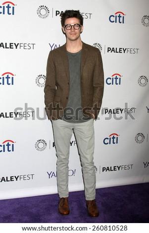 LOS ANGELES - MAR 14:  Grant Gustin at the PaleyFEST LA 2015 - \