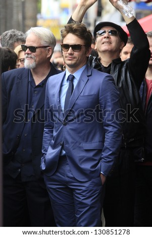 LOS ANGELES - MAR 7: James Franco at a ceremony as James Franco is honored with a star on the Hollywood Walk of Fame on March 7, 2013 in Los Angeles, California - stock photo