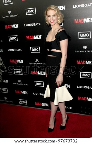 """LOS ANGELES - MAR 14:  January Jones arrives at the """"Mad Men"""" Season 5 Premiere Screening at the ArcLight Theaters on March 14, 2012 in Los Angeles, CA"""