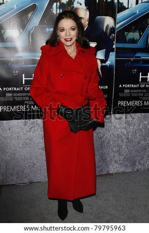 LOS ANGELES - MAR 22:  Joan Collins arriving at the Los Angeles HBO Premiere of 'His Way' at Paramount Studios in Los Angeles, California on March 22, 2011.