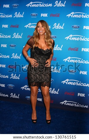 """LOS ANGELES - MAR 7:  Mariah Carey arrives at the 2013 """"American Idol"""" Finalists Party at the The Grove on March 7, 2013 in Los Angeles, CA"""