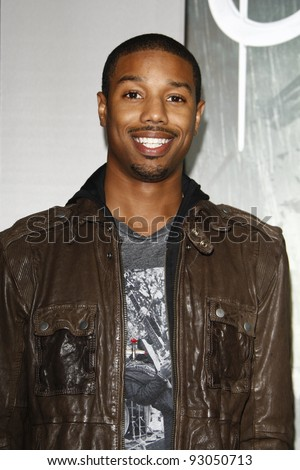 LOS ANGELES - MAR 23:  Michael B Jordan arriving at the World Premiere of Sucker Punch at the Grauman's Chinese Theater in Los Angeles, California on March 23, 2011.