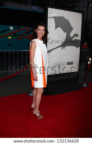 "LOS ANGELES - MAR 18:  Michelle Fairley arrives at ""Game of Thrones"" Season 3 Premiere at the Chinese Theater on March 18, 2013 in Los Angeles, CA"