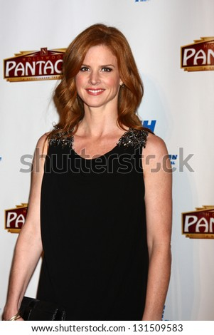 "LOS ANGELES - MAR 12:  Sarah Rafferty arrives at the ""Catch Me If You Can"" Opening Night at the Pantages Theater on March 12, 2013 in Los Angeles, CA"
