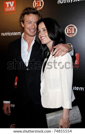 LOS ANGELES - MAR 24: Simon Baker and Robin Tunney arriving at the party for TV Guide Magazine's Sexiest Stars held at the Sunset Tower Hotel in West Hollywood, Los Angeles, CA on March 24, 2009.