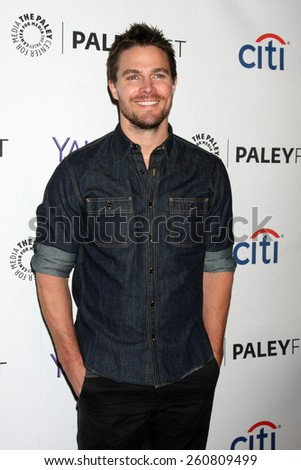 LOS ANGELES - MAR 14:  Stephen Amell at the PaleyFEST LA 2015 - \