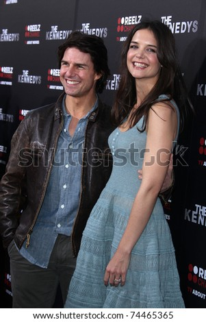 "LOS ANGELES - MAR 28:  Tom Cruise & Katie Holmes arrives to ""The Kennedys"" Los Angeles Premiere  on March 28, 2011 in Beverly Hills, CA"