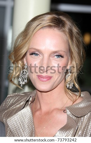 "LOS ANGELES - MAR 22:  Uma Thurman arrives at the ""Ceremony"" Premiere at ArcLight Theater on March 22, 2011 in Los Angeles, CA"