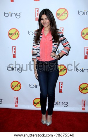 "LOS ANGELES - MAR 26:  Victoria Justice arrives at  the ""Bully"" Movie Premiere at the Chinese 6 Theaters on March 26, 2012 in Los Angeles, CA"