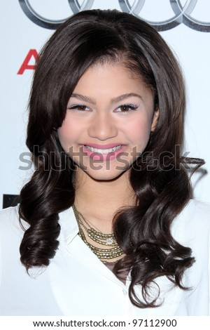 LOS ANGELES - MAR 8:  Zendaya Coleman arrives at the Grand Opening Of Audi Beverly Hills Dealership at the Audi Beverly Hills  on March 8, 2012 in Beverly Hills, CA