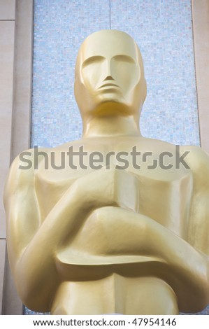 LOS ANGELES - MARCH 3:  An Oscar statue is setup at the Kodak Theater on March 3, 2010 in Los Angeles.  The 82nd annual Academy Awards will be held on March 7
