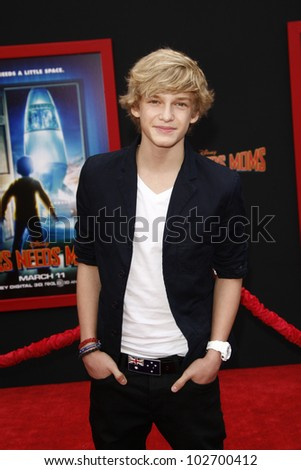 LOS ANGELES - MARCH 6: Cody Simpson at the World Premiere of 'Mars Needs Moms' held at the El Capitan Theater in Los Angeles, California on March 6, 2011