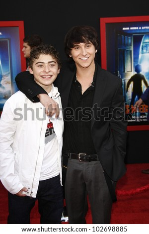 LOS ANGELES - MARCH 6: Ryan Ochoa, Mitchel Musso at the World Premiere of 'Mars Needs Moms' held at the El Capitan Theater in Los Angeles, California on March 6, 2011