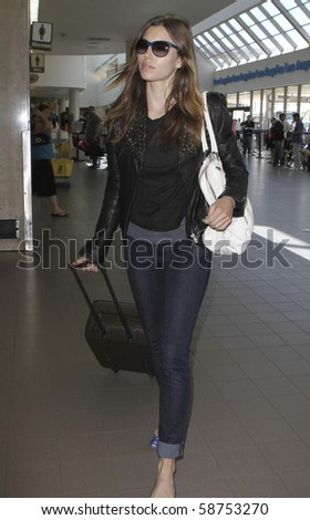 LOS ANGELES - MAY 29: Actress Jessica Biel is seen at LAX. May 29th in Los Angeles, California.