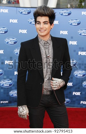 LOS ANGELES - MAY 25: Adam Lambert at the American Idol Finale at the Nokia Theater in Los Angeles, California on May 25, 2011.