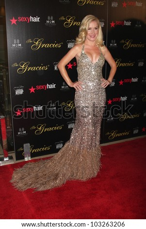 LOS ANGELES - MAY 22:  Angela Kinsey arrives at the 37th Annual Gracie Awards Gala at Beverly Hilton Hotel on May 22, 2012 in Beverly Hllls, CA