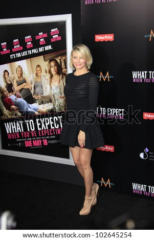 LOS ANGELES - MAY 14: Cameron Diaz at the premiere of 'What To Expect When You're Expecting' held at Grauman's Chinese Theater on May 14, 2012  in Los Angeles, California