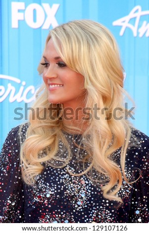 "LOS ANGELES - MAY 23:  Carrie Underwood arrives at the ""American Idol 2012"" Finale at Nokia Theater on May 23, 2012 in Los Angeles, CA"