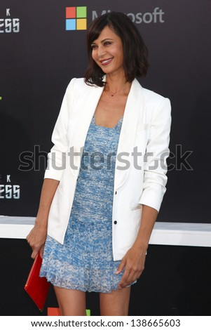 "LOS ANGELES - MAY 14:  Catherine Bell arrives at the ""Star Trek Into Darkness"" Los Angeles Premiere at the Dolby Theater on May 14, 2013 in Los Angeles, CA"