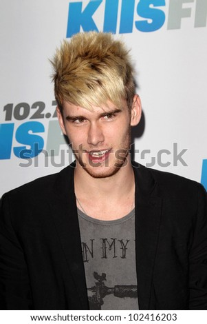 """LOS ANGELES - MAY 12:  Colton Dixon. arrives at the """"Wango Tango"""" Concert at The Home Depot Center on May 12, 2012 in Carson, CA - stock photo"""
