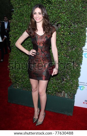 LOS ANGELES - MAY 19:  Emmy Rossum arriving at the Opening Night of the Beauty Culture Exhibit at The Annenberg Space For Photography on May 19, 2011 in Century City, CA