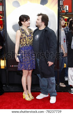 """LOS ANGELES - MAY 22:  Jack Black & Wife arriving at the """"Kung Fu Panda 2"""" Los Angeles Premiere at Grauman's Chinese Theatre on May 22, 2011 in Los Angeles, CA"""