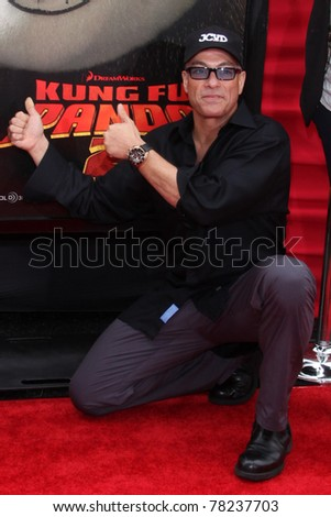 "LOS ANGELES - MAY 22:  Jean-Claude Van Damme arriving at the ""Kung Fu Panda 2"" Los Angeles Premiere at Grauman's Chinese Theatre on May 22, 2011 in Los Angeles, CA"