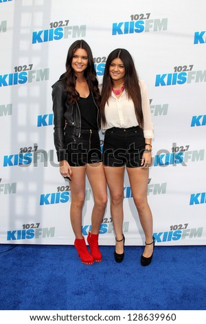 """LOS ANGELES - MAY 12:  Kendall Jenner; Kylie Jenner  arrives at the """"Wango Tango"""" Concert at The Home Depot Center on May 12, 2012 in Carson, CA"""