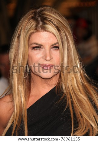 """LOS ANGELES - MAY 07:  Kirstie Alley arrives to the """"Pirates of the Caribbean: On Stranger Tides"""" World Premiere  on May 7, 2011 in Anaheim, CA"""