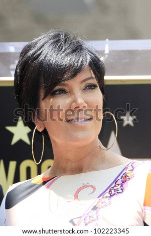 LOS ANGELES - MAY 10: Kris Jenner at a ceremony where Ellen K is honored with the 2471st star on the Hollywood Walk of Fame on May 10, 2012 in Los Angeles, California