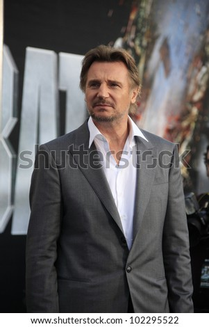 LOS ANGELES - MAY 10: Liam Neeson at the premiere of Universal Pictures' 'Battleship' at The Nokia Theater L.A. Live on May 10, 2012 in Los Angeles, California