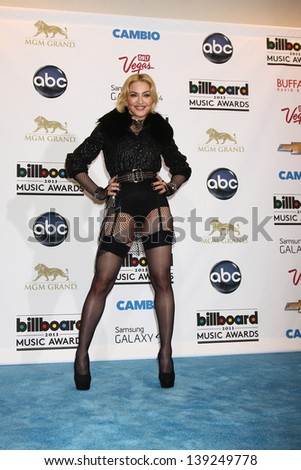 LOS ANGELES -  MAY 19:  Madonna in the press room at the Billboard Music Awards 2013 at the MGM Grand Garden Arena on May 19, 2013 in Las Vegas, NV