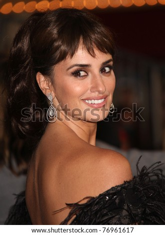 "LOS ANGELES - MAY 07:  Penelope Cruz arrives to the ""Pirates of the Caribbean: On Stranger Tides"" World Premiere  on May 7, 2011 in Anaheim, CA - stock photo"