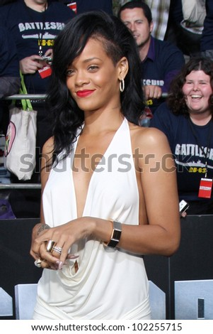 """LOS ANGELES - MAY 10:  Rihanna arrives at the """"Battleship"""" LA Premiere at Nokia Theater  LA Live on May 10, 2012 in Los Angeles, CA"""