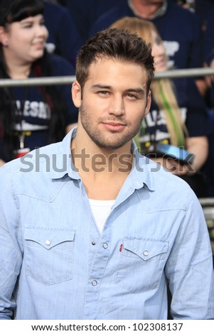 LOS ANGELES - MAY 10: Ryan Guzman at the premiere of Universal Pictures' 'Battleship' at The Nokia Theater L.A. Live on May 10, 2012 in Los Angeles, California