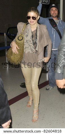 LOS ANGELES-MAY 25: Singer Fergie at LAX airport. May 25 in Los Angeles, California 2010